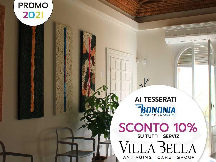 Ai tesserati BONONIA  – 10% di SCONTO su tutti i servizi di Villa Bella!